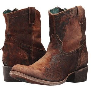 Corral Chocolate/Tan Western Ankle Boots